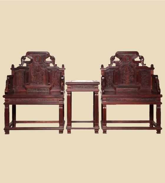 大红酸枝太师椅