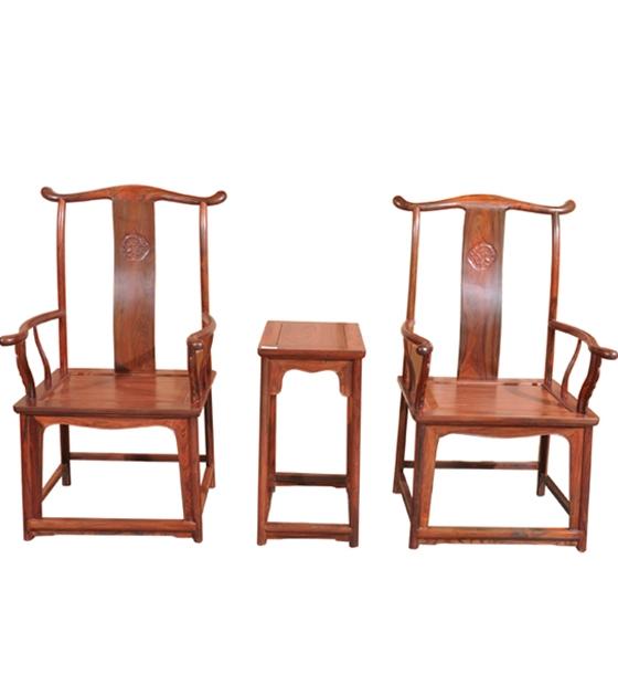 大红酸枝明式官帽椅三件套