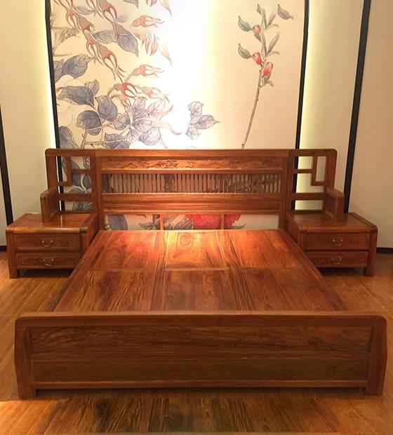 红木新中式大床