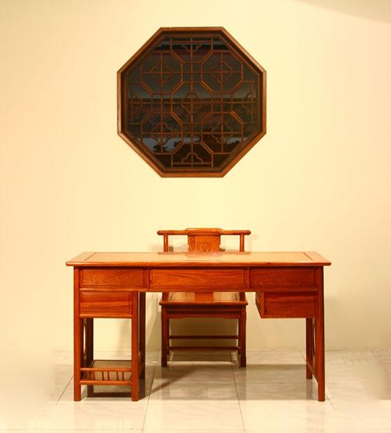 缅甸花梨木电脑桌