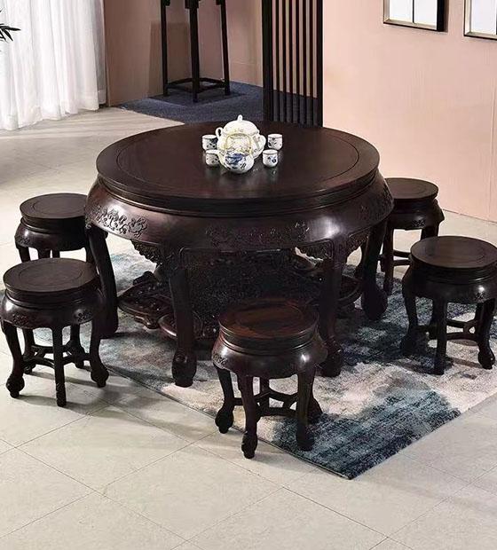 昆明红木圆桌