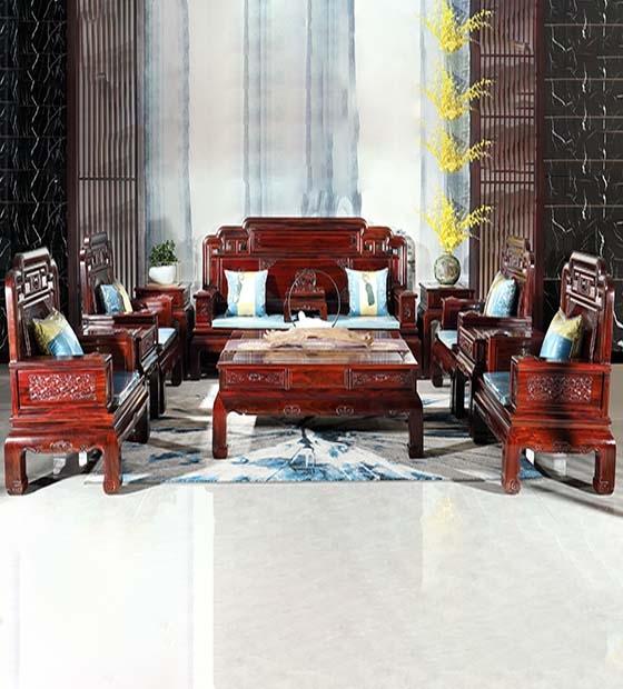 国色天香红木沙发