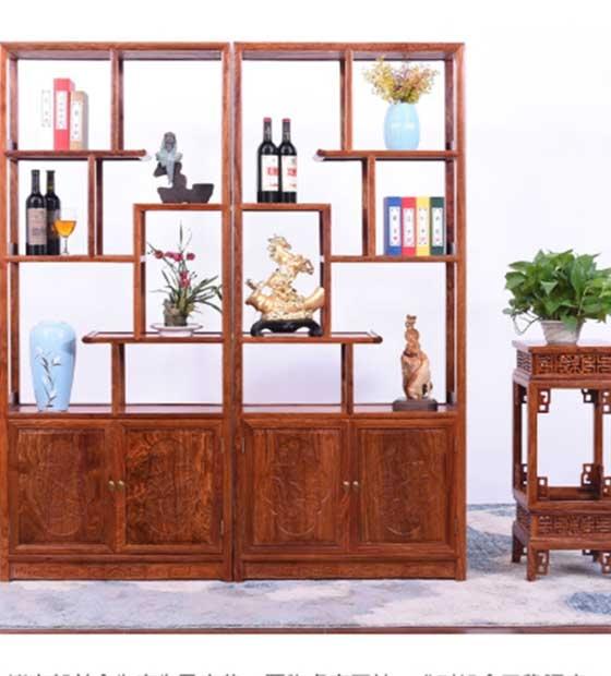 红木酒柜、博古架