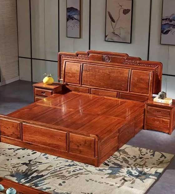 豪华红木大床