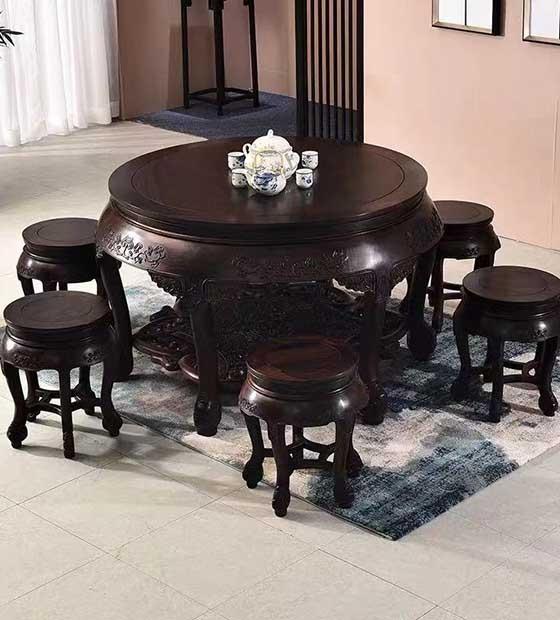 定制红木圆桌